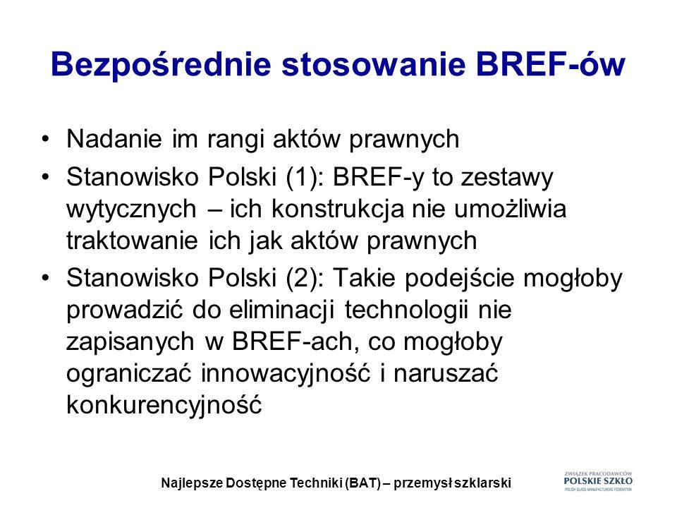 Bezpośrednie stosowanie BREF-ów