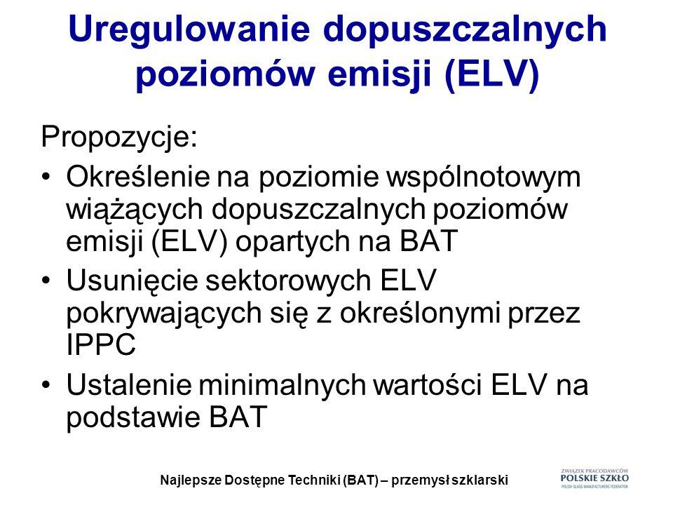 Uregulowanie dopuszczalnych poziomów emisji (ELV)