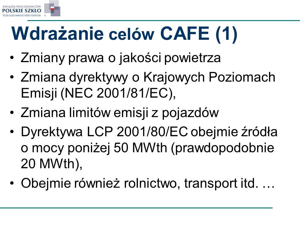 Wdrażanie celów CAFE (1)