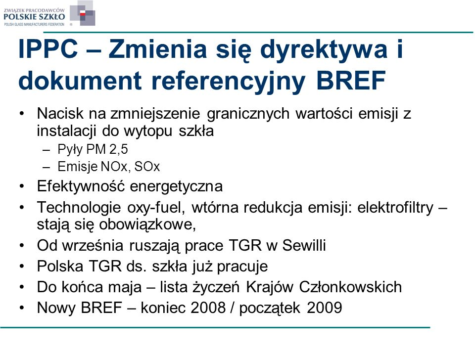 IPPC – Zmienia się dyrektywa i dokument referencyjny BREF