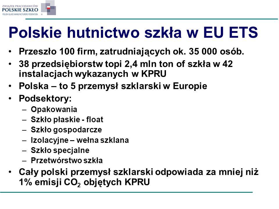 Polskie hutnictwo szkła w EU ETS