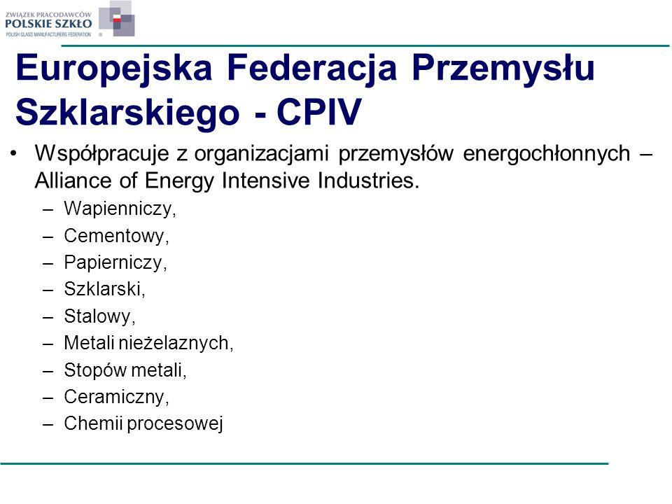Europejska Federacja Przemysłu Szklarskiego - CPIV