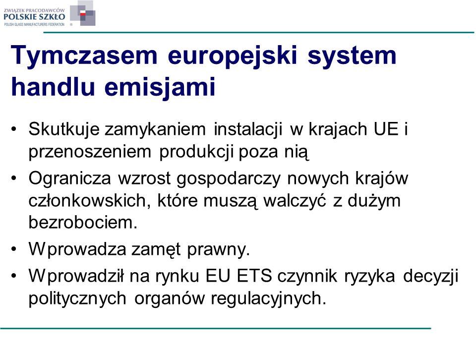 Tymczasem europejski system handlu emisjami