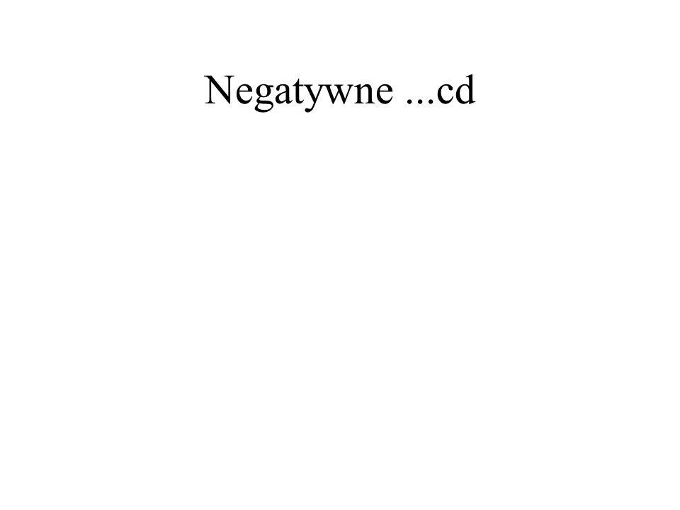 Negatywne ...cd