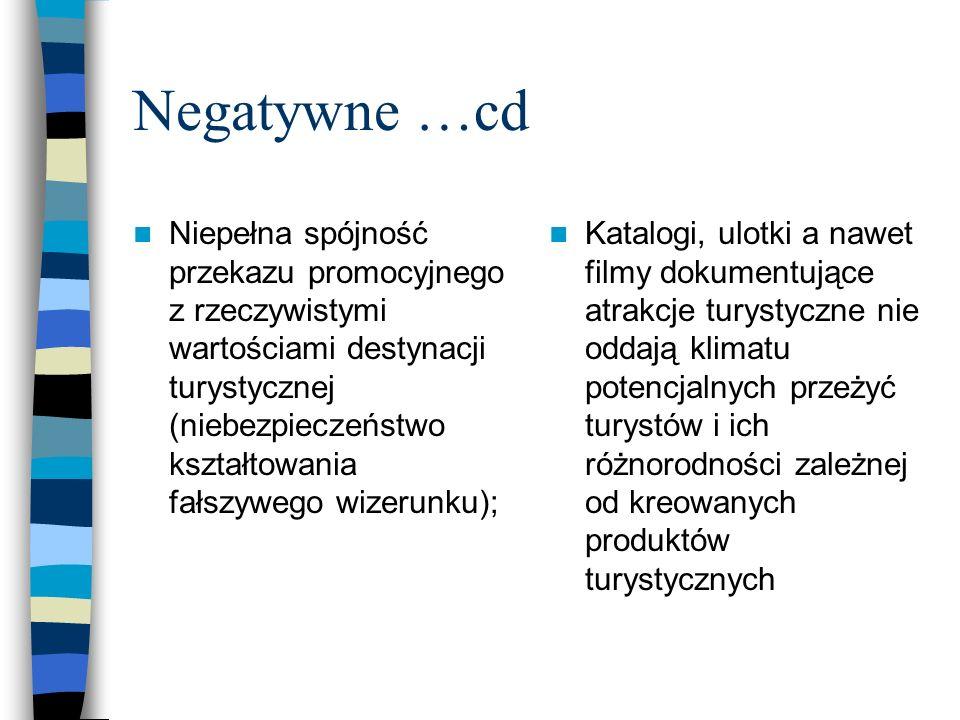 Negatywne …cd