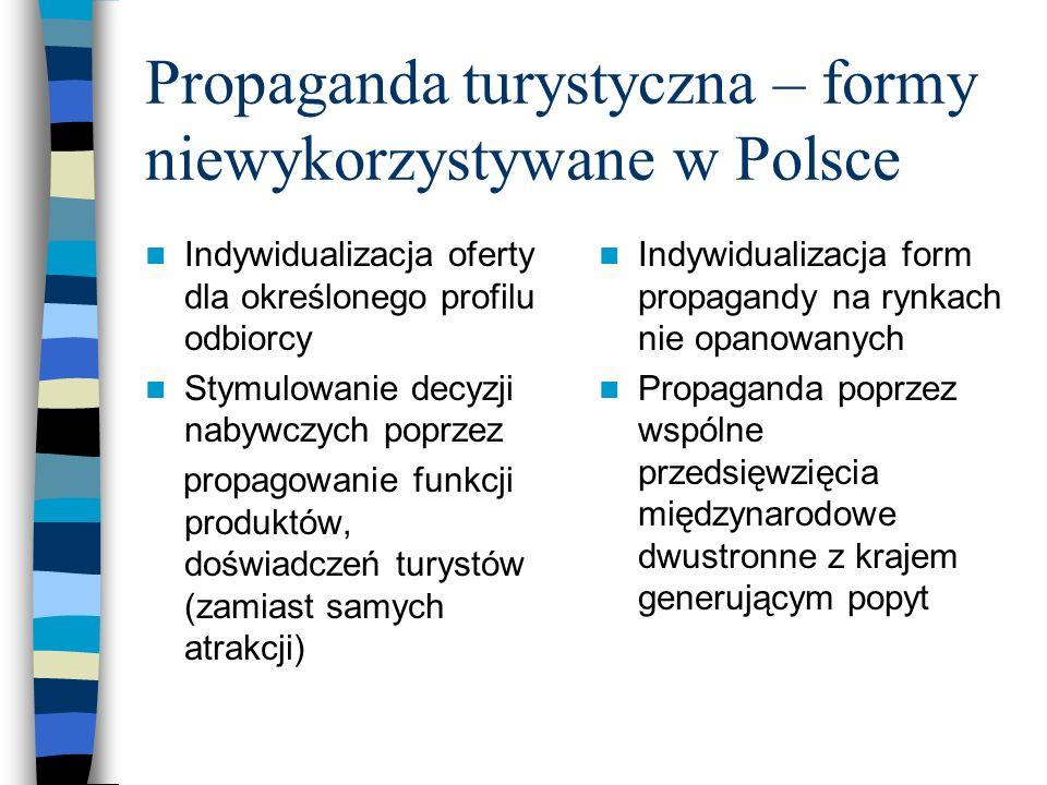 Propaganda turystyczna – formy niewykorzystywane w Polsce