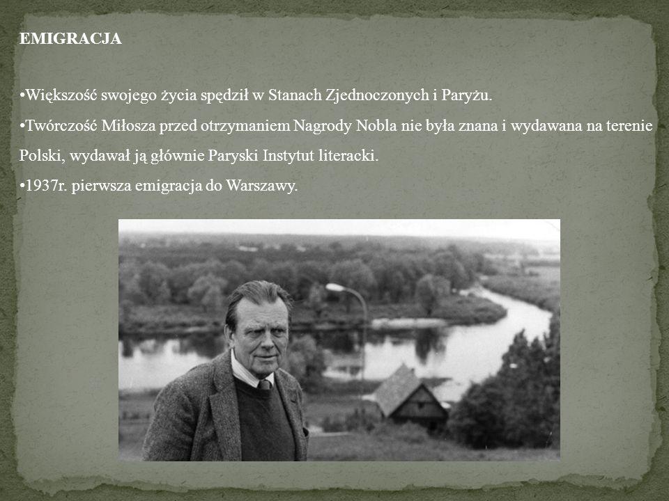 EMIGRACJA Większość swojego życia spędził w Stanach Zjednoczonych i Paryżu.
