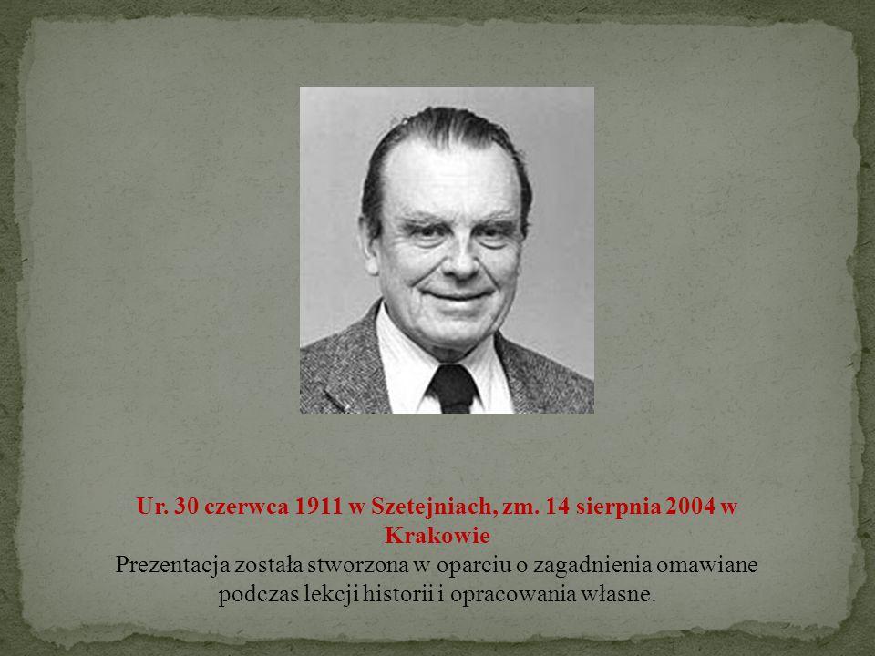 Ur. 30 czerwca 1911 w Szetejniach, zm. 14 sierpnia 2004 w