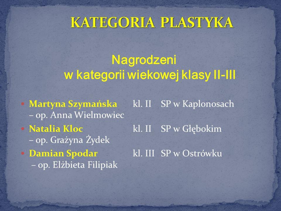 Nagrodzeni w kategorii wiekowej klasy II-III