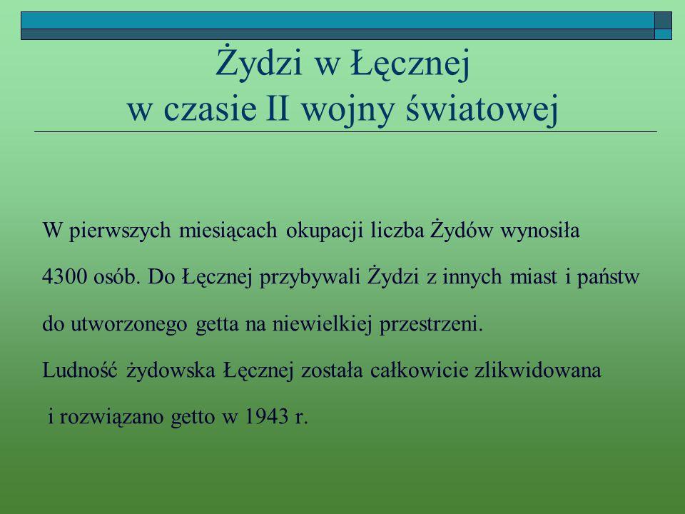 Żydzi w Łęcznej w czasie II wojny światowej