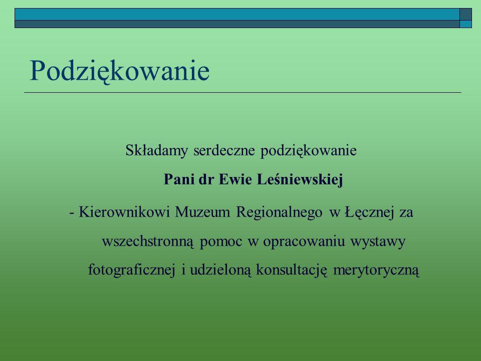 Składamy serdeczne podziękowanie Pani dr Ewie Leśniewskiej