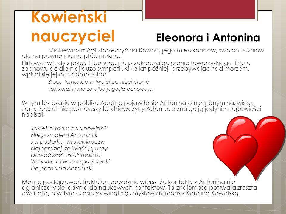 Kowieński nauczyciel Eleonora i Antonina