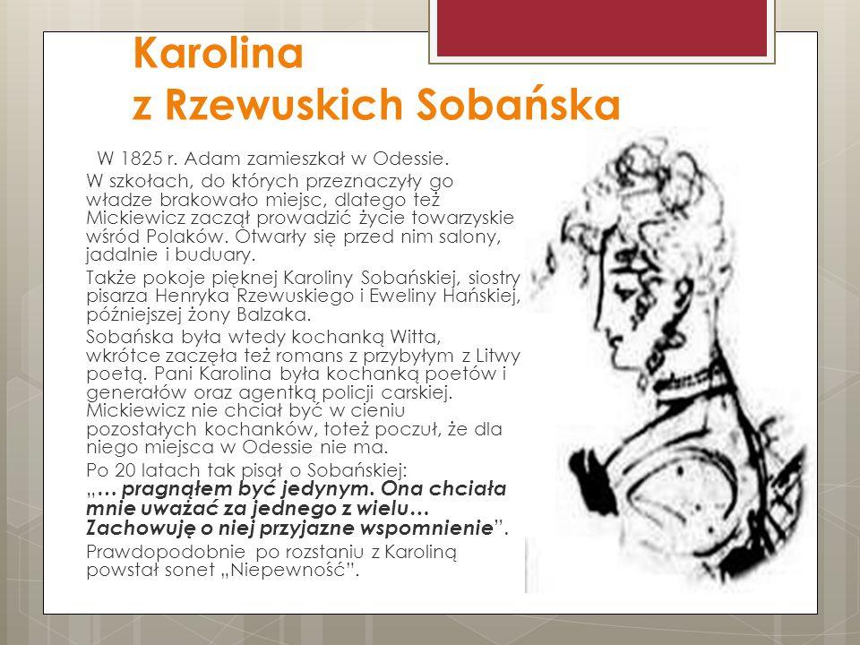 Karolina z Rzewuskich Sobańska