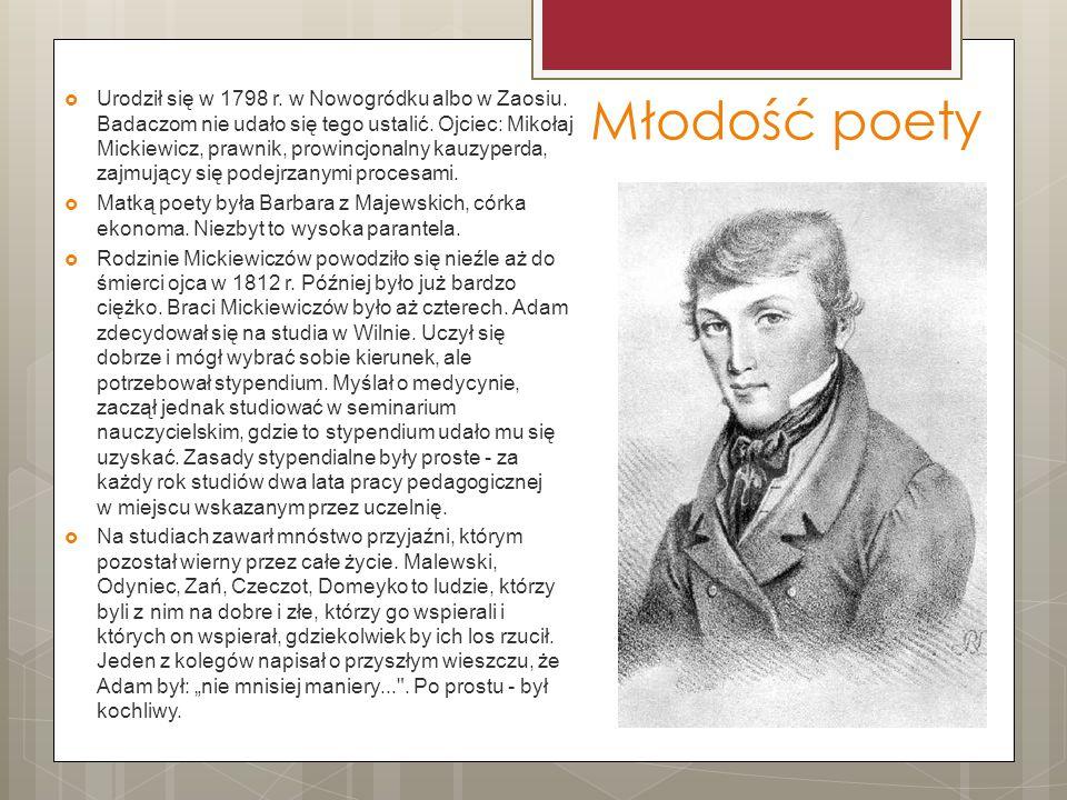 Urodził się w 1798 r. w Nowogródku albo w Zaosiu
