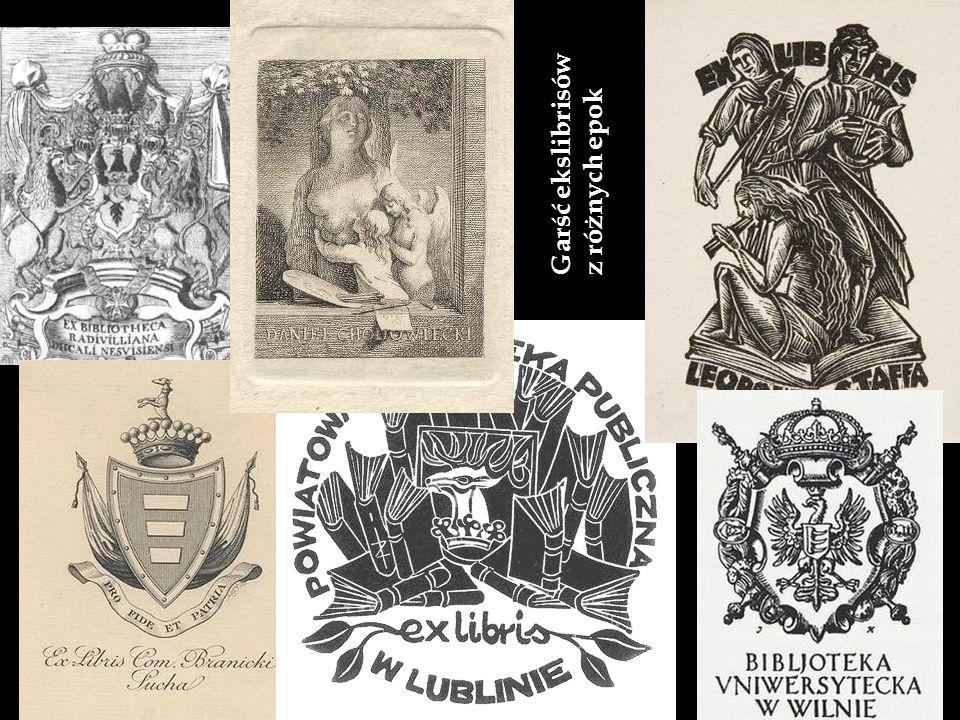 Garść ekslibrisów z różnych epok