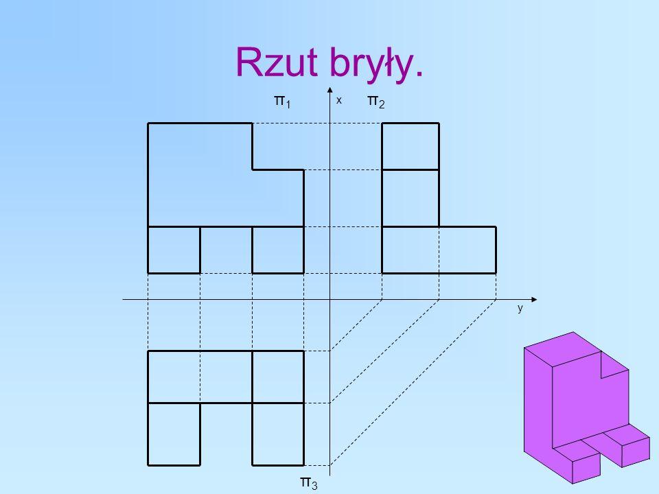 Rzut bryły. π1 x π2 y π3