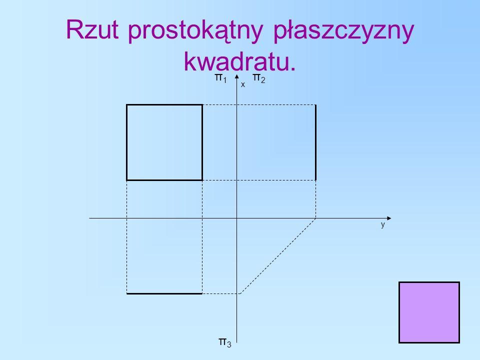 Rzut prostokątny płaszczyzny kwadratu.