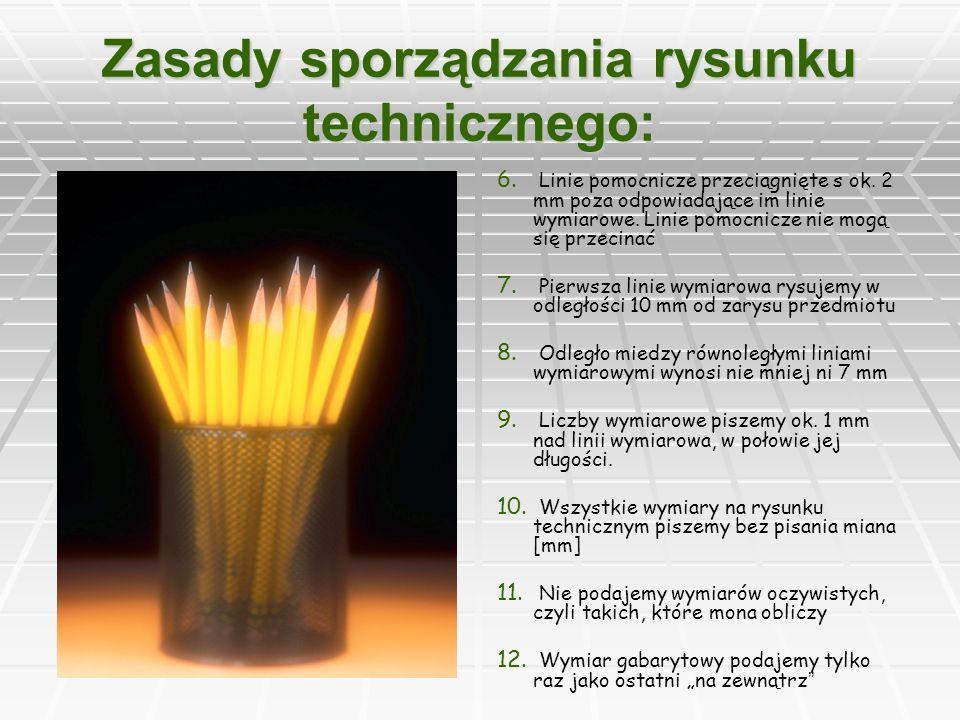 Zasady sporządzania rysunku technicznego: