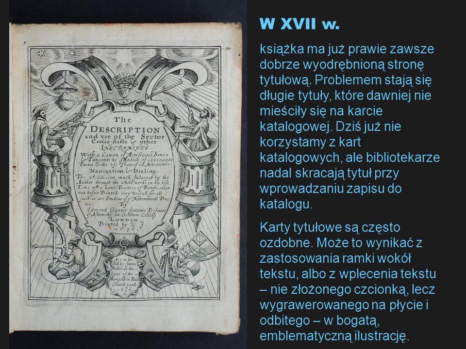 W XVII w.