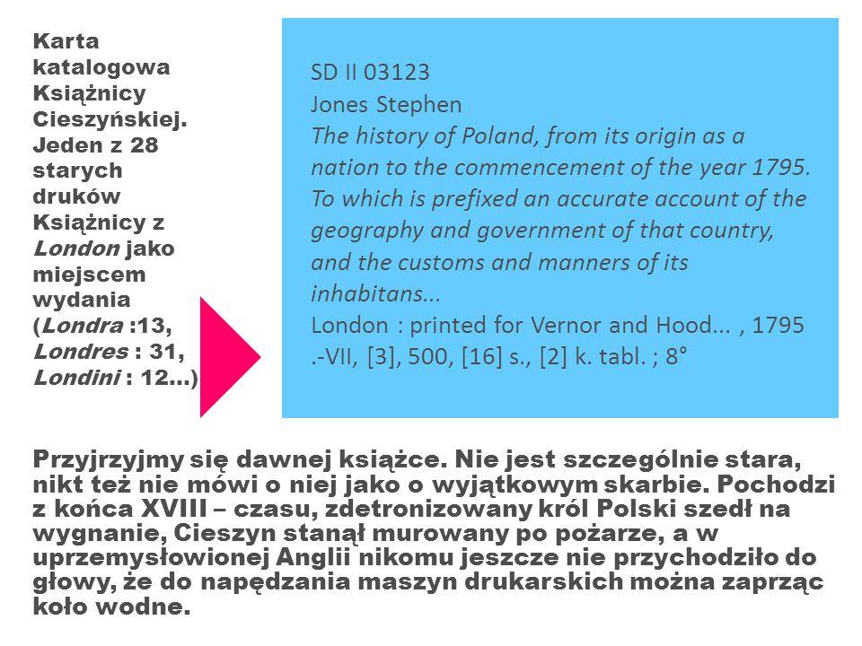 Karta katalogowa Książnicy Cieszyńskiej