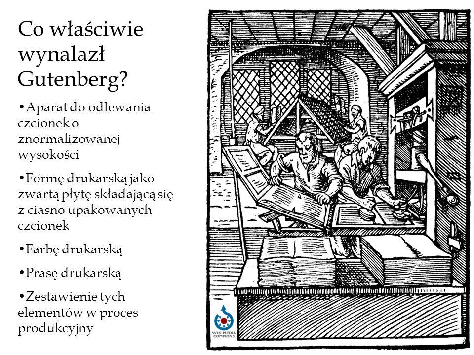 Co właściwie wynalazł Gutenberg