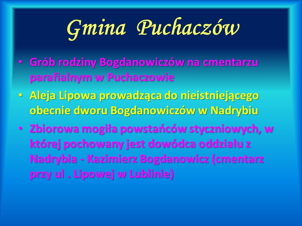Gmina Puchaczów Grób rodziny Bogdanowiczów na cmentarzu parafialnym w Puchaczowie.