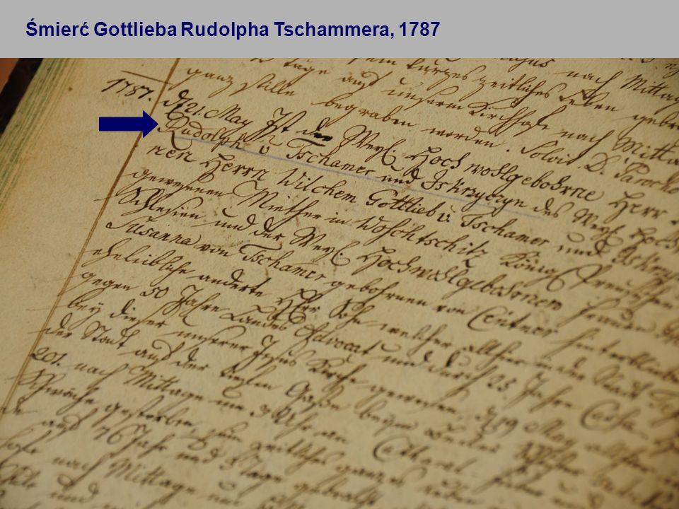 Śmierć Gottlieba Rudolpha Tschammera, 1787