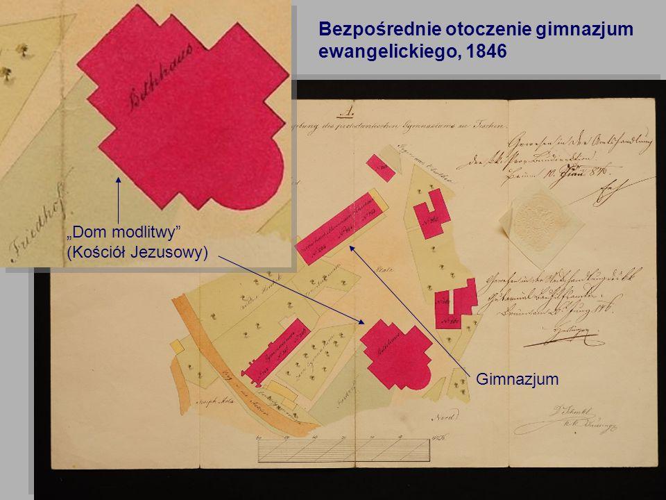 Bezpośrednie otoczenie gimnazjum ewangelickiego, 1846