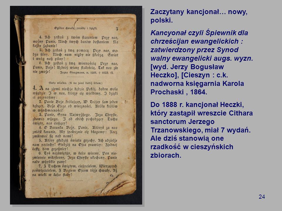 Zaczytany kancjonał… nowy, polski.