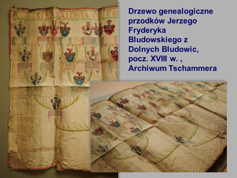 Drzewo genealogiczne przodków Jerzego Fryderyka Bludowskiego z Dolnych Bludowic, pocz.