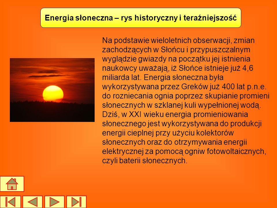 Energia słoneczna – rys historyczny i teraźniejszość