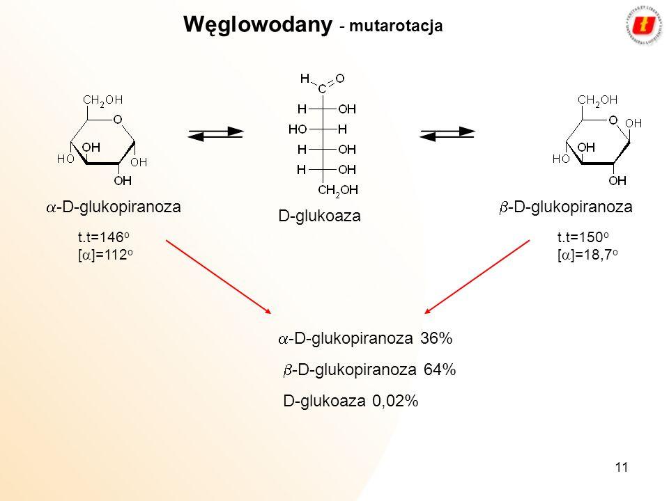 Węglowodany - mutarotacja