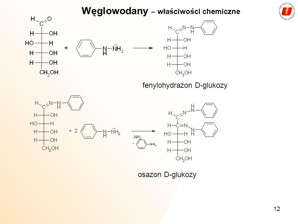 Węglowodany – właściwości chemiczne