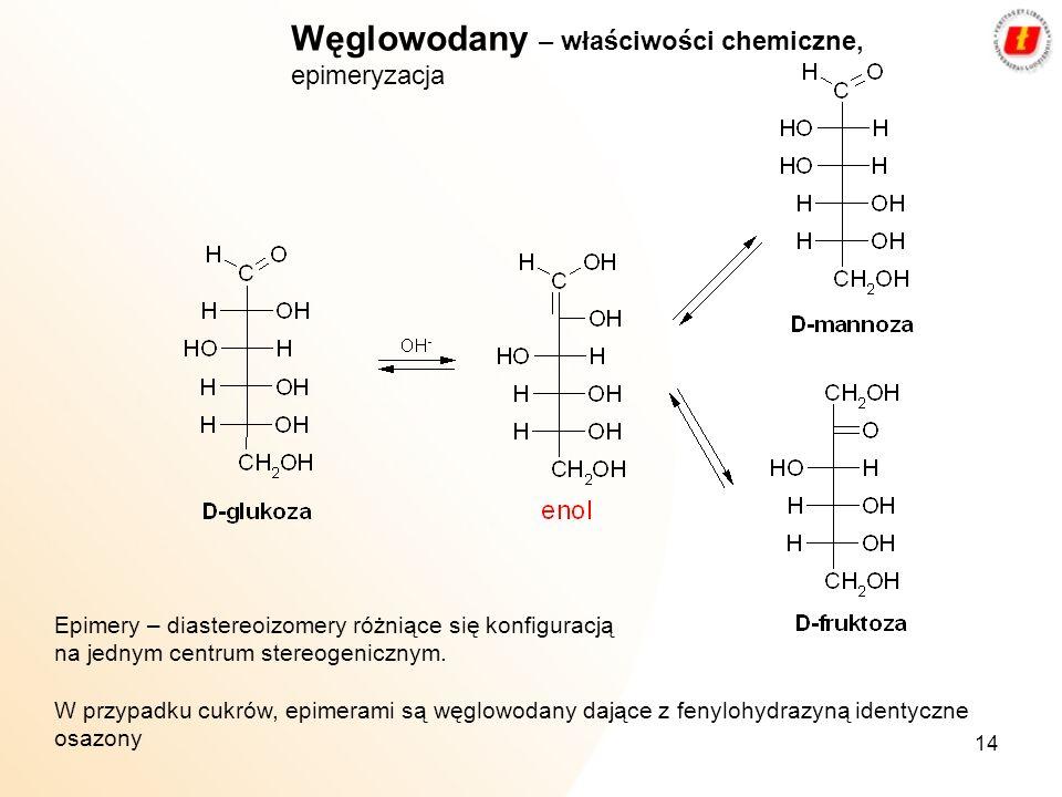 Węglowodany – właściwości chemiczne, epimeryzacja