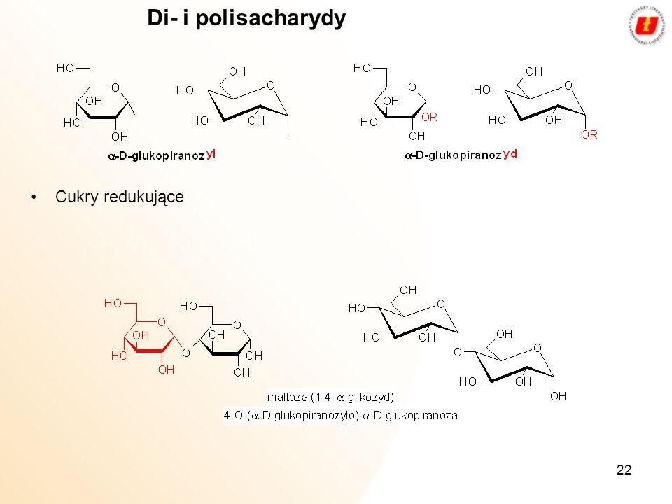 Di- i polisacharydy Cukry redukujące
