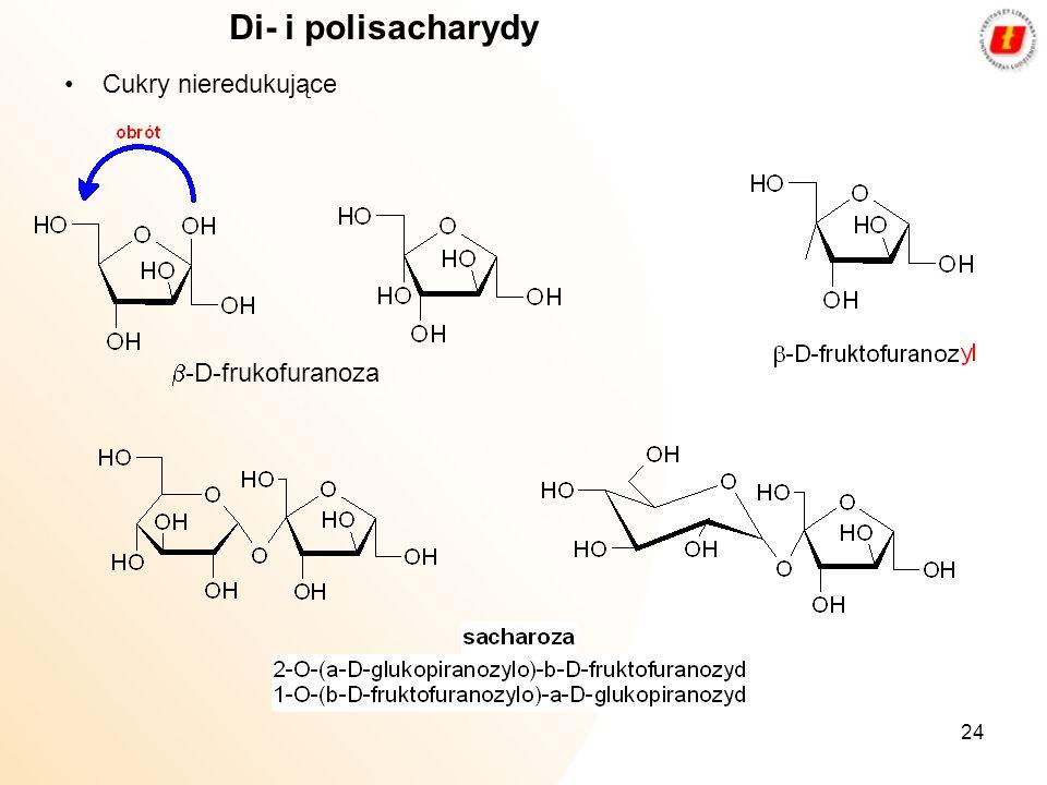 Di- i polisacharydy Cukry nieredukujące b-D-frukofuranoza
