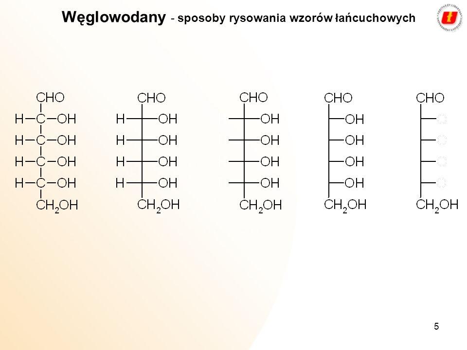 Węglowodany - sposoby rysowania wzorów łańcuchowych