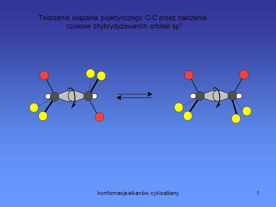 Tworzenie wiązania pojedynczego C-C przez nałożenie