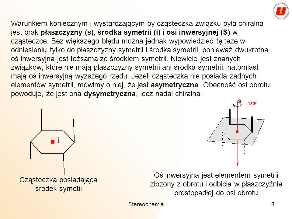 Cząsteczka posiadająca środek symetii