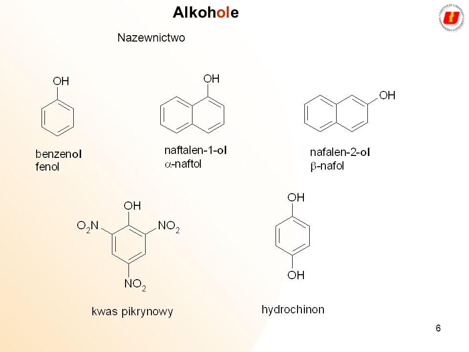 Alkohole Nazewnictwo