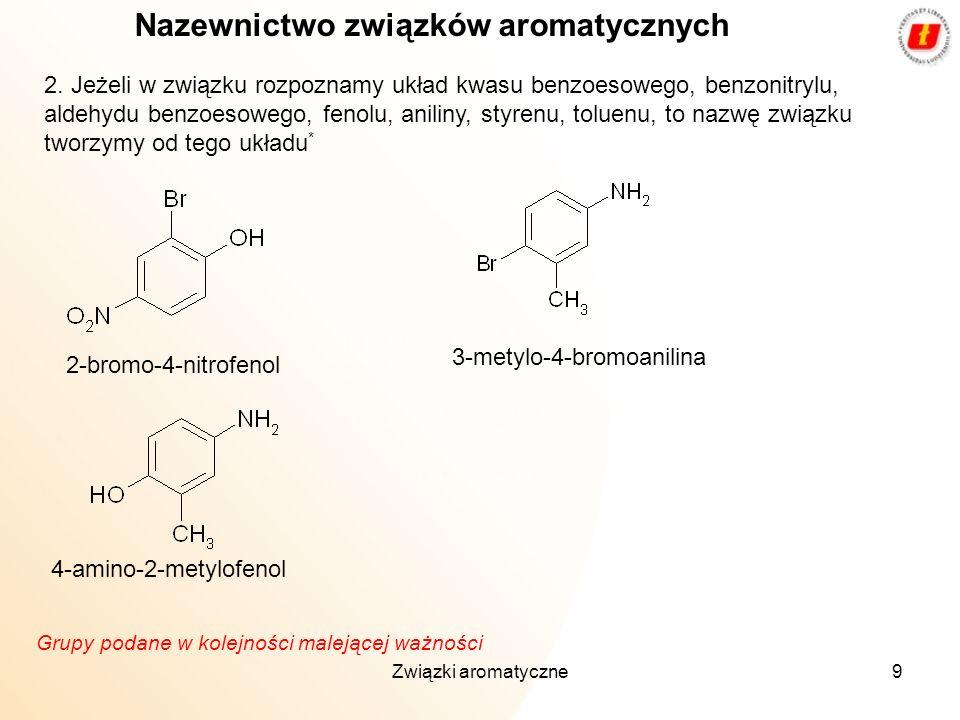 Nazewnictwo związków aromatycznych