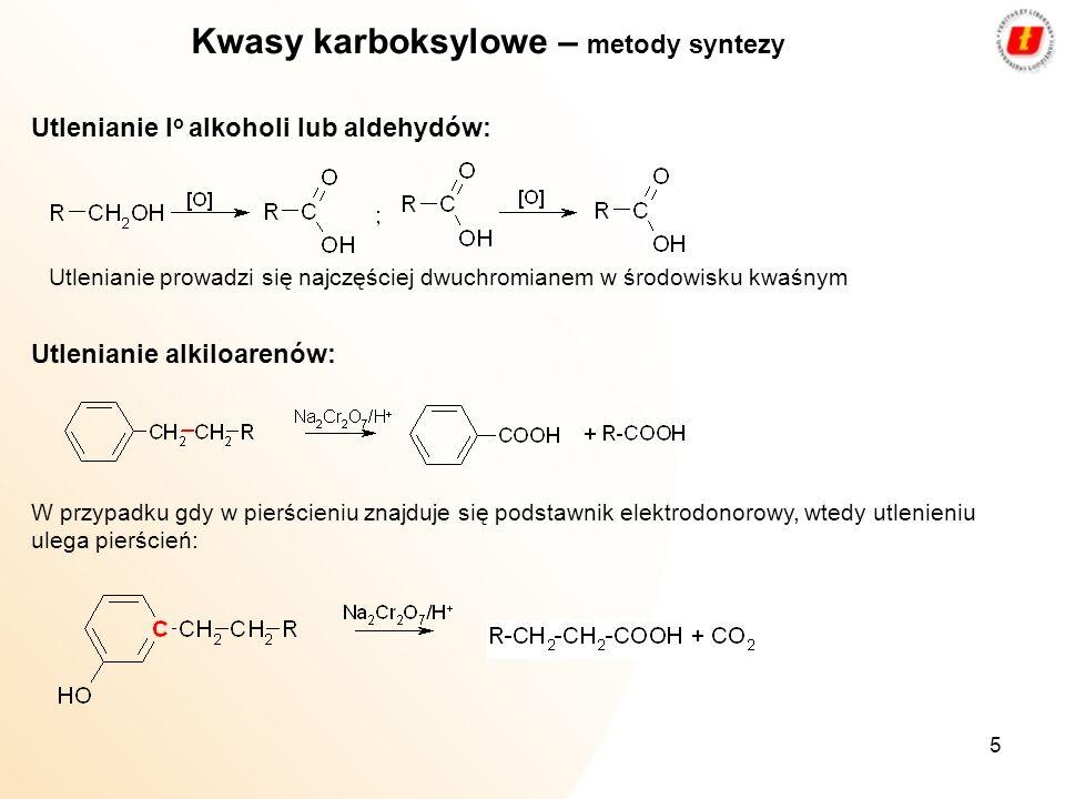 Kwasy karboksylowe – metody syntezy