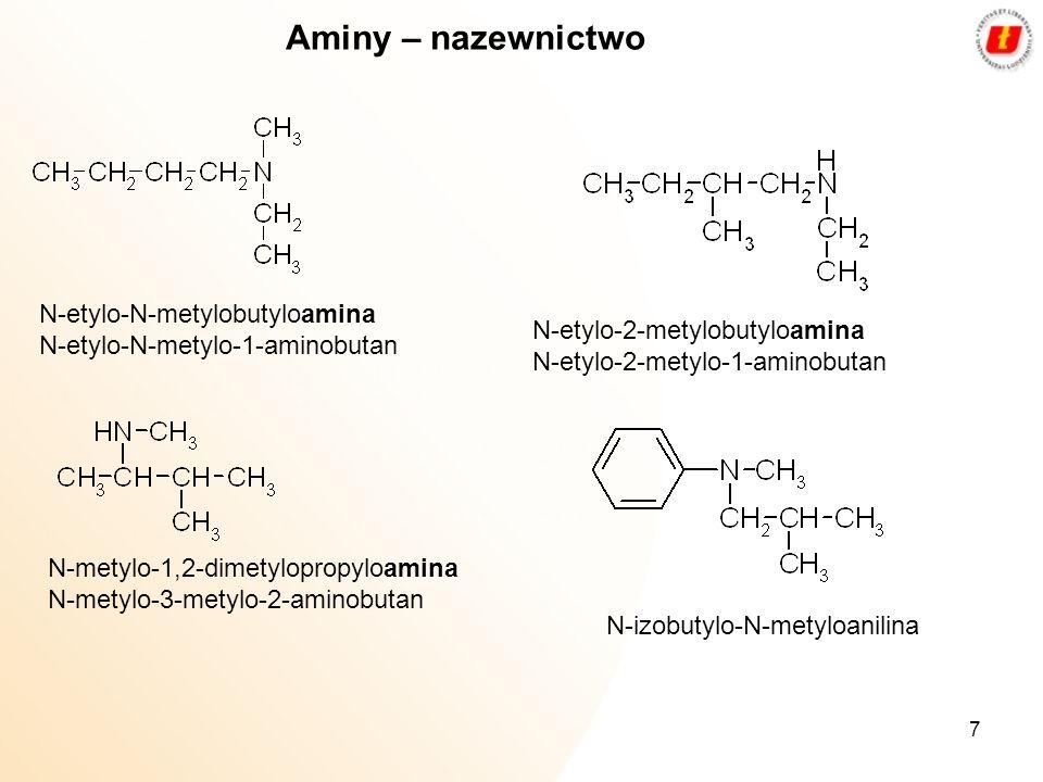 Aminy – nazewnictwo N-etylo-N-metylobutyloamina