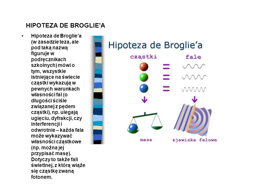 HIPOTEZA DE BROGLIE A