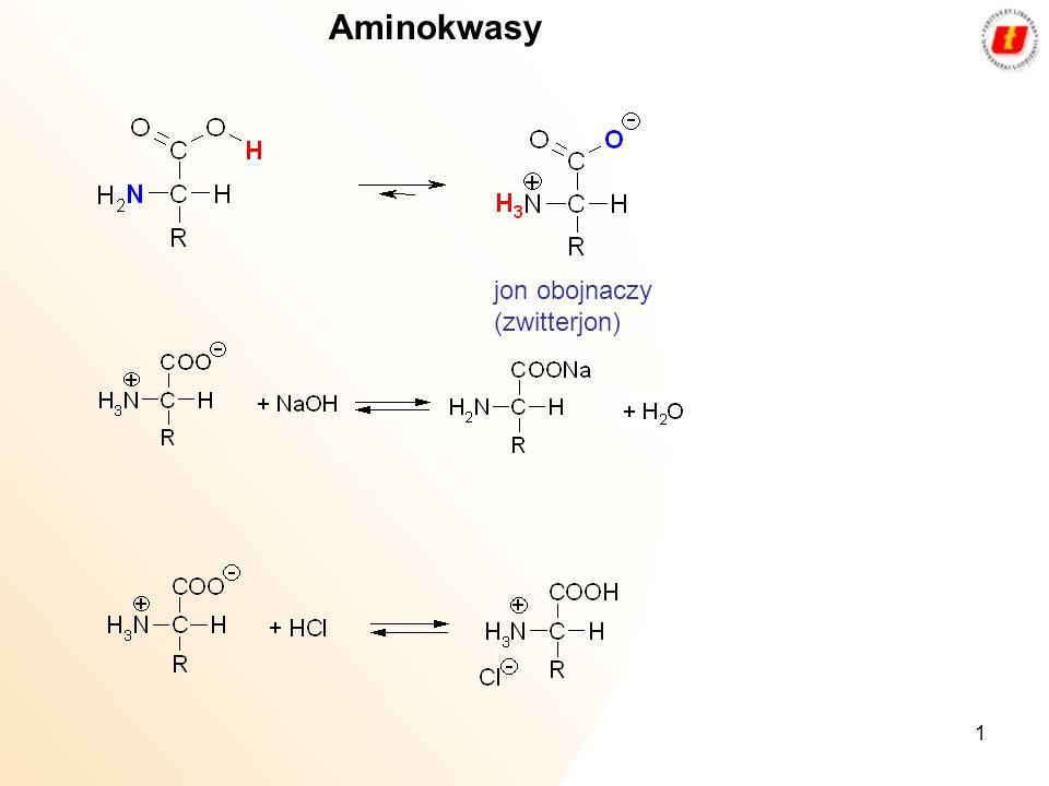 Aminokwasy jon obojnaczy (zwitterjon)