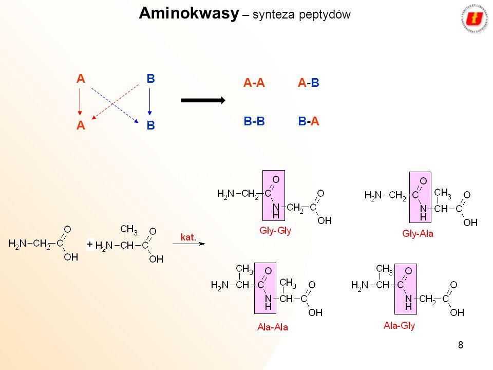 Aminokwasy – synteza peptydów