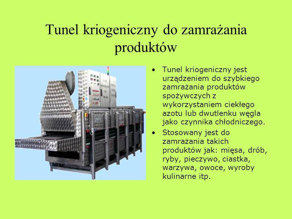 Tunel kriogeniczny do zamrażania produktów
