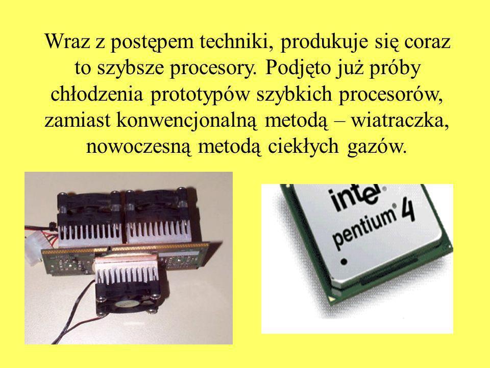 Wraz z postępem techniki, produkuje się coraz to szybsze procesory