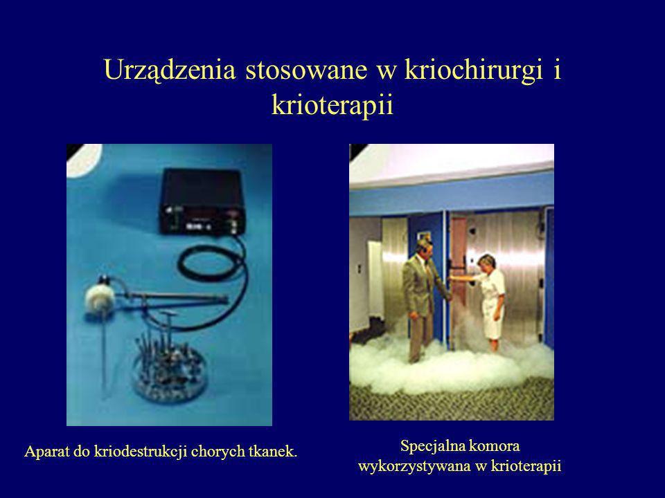 Urządzenia stosowane w kriochirurgi i krioterapii