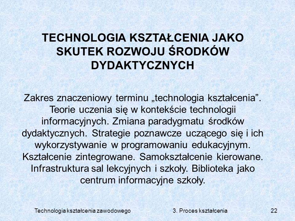 TECHNOLOGIA KSZTAŁCENIA JAKO SKUTEK ROZWOJU ŚRODKÓW DYDAKTYCZNYCH